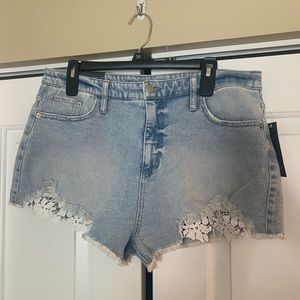 Jean and Lace short